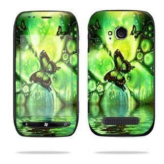Protective Vinyl Skin Decal Cover for Nokia Lumia 710 4G Windows Phone T Mobile Cell Phone Sticker Skins Mystical Butterfly Cell Phones & Accessories