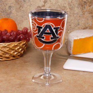 NCAA Auburn Tigers Orange Circles Wine Goblet  Sports Related Tailgater Mats  Sports & Outdoors