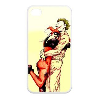 Batman Happy The Joker and Harley Quinn Hug Unique Durable TPU Rubber Case Skin for iPhone 4/4s Cell Phones & Accessories