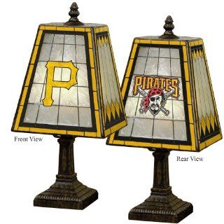 MLB Pittsburgh Pirates 14 Inch Art Glass Lamp  Table Lamps  Sports & Outdoors