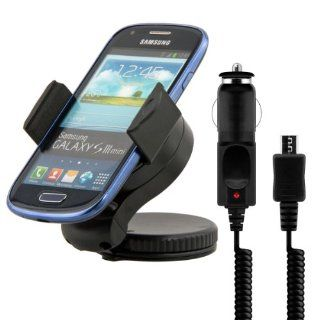 kwmobile Universal car mount for Samsung Galaxy S3 Mini i8190 + charger   E.g. for mounting on the dash board or the windshield   also available with COVER Quality. Cell Phones & Accessories