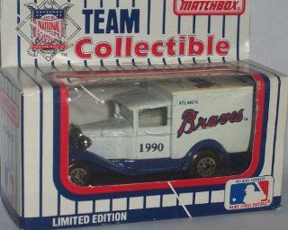 Atlanta Braves 1990 Matchbox MLB Diecast Ford Model A Truck White Rose Collectible Toy Car 164 Scale  Sports Fan Toy Vehicles  Sports & Outdoors