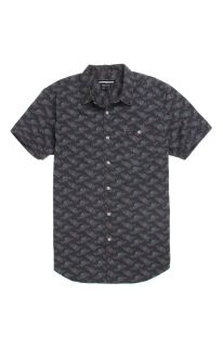 Mens Rvca Shirts   Rvca Fever Flower Short Sleeve Woven Shirt
