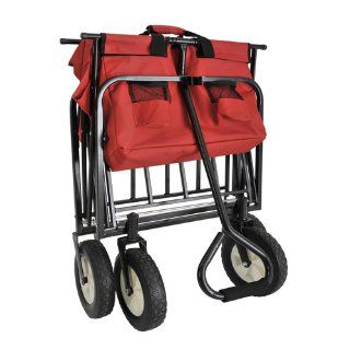"Sandusky Lee FCW3622 Red Polyester Fabric Light Duty Folding Wagon with Solid Steel Frame, 150 lbs Capacity, 36"" Length x 22"" Width x 25 1/2"" Height"