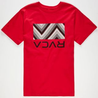Pattern Box Mens T Shirt Red In Sizes Large, Medium, Small, X Large, Xx La
