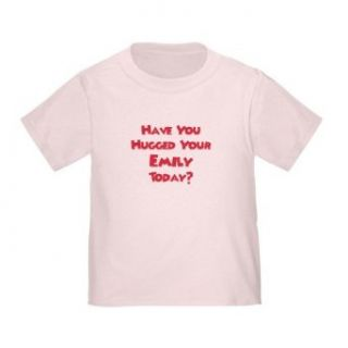 Personalized Have You Hugged Your Emily Today Baby Infant Toddler Kids Shirt, CUSTOMIZE WITH ANY BOY OR GIRL NAME, Christmas Present Custom Mommy and Daddy Gift Collection Clothing
