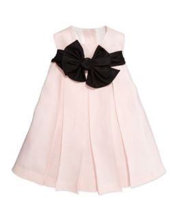 Empire Waist Dress with Back Ties, Light Pink, Sizes 2T 3T   Helena
