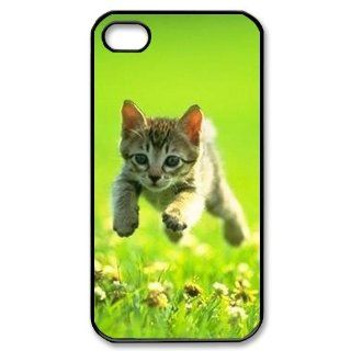 Custom Because cats Cover Case for iPhone 4 WX345 Cell Phones & Accessories