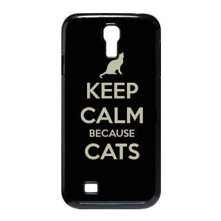 Custom Because Cats Cover Case for Samsung Galaxy S4 I9500 S4 315 Cell Phones & Accessories