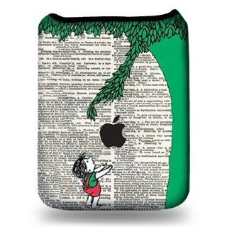 Happy Kid Below Tree Illustration Tablet Sleeve   Fits iPad 1, iPad 2, iPad 3, Galaxy Tab 10.1, and Generic Tablets   Tablet Sleeve Case Cell Phones & Accessories