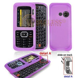 Purple Transparent Silicone Skin Cover Case Cell Phone Protector for LG Rumor2 Banter UX265 [Beyond Cell Packaging] Cell Phones & Accessories