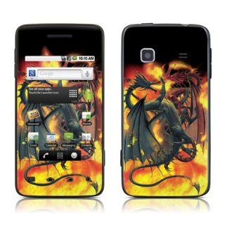 Dragon Wars Design Protective Skin Decal Sticker for Samsung Galaxy Prevail SPH M820 Cell Phone Cell Phones & Accessories