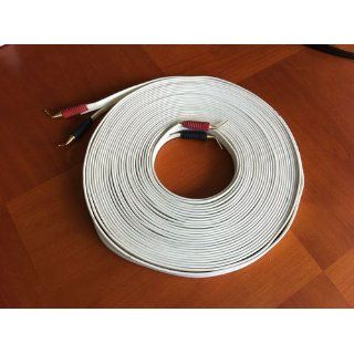 SuperFlat Mini Navajo White Easy to Hide Speaker Cable 50 Feet pc with 4 prs pins (Discontinued by Manufacturer) Electronics