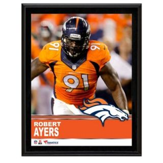 Robert Ayers Denver Broncos Sublimated 10.5 x 13 Plaque