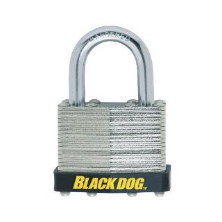 Black Dog 55102 Laminated Padlock Warded Keyed Different, 1 11/16 Inch