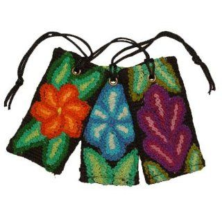 Hand Embroidered Travel Luggage Tag   Fair Trade Patio, Lawn & Garden