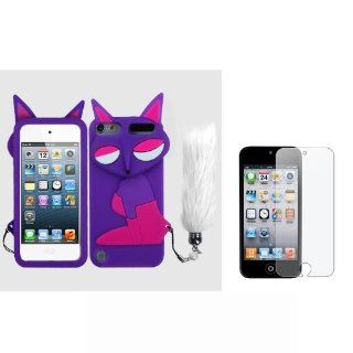 Soft Skin Case Fits Apple iPod Touch 5 (5th Generation) Baby Purple Fox Pastel Skin + LCD Screen Protective Film (does NOT fit iPod Touch 1st, 2nd, 3rd or 4th generations) Cell Phones & Accessories