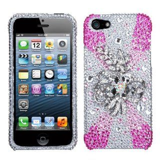 Hard Plastic Snap on Cover Fits Apple iPhone 5 5S Lace & Laurel Premium 3D Diamond Plus A Free LCD Screen Protector AT&T, Cricket, Sprint, Verizon (does NOT fit Apple iPhone or iPhone 3G/3GS or iPhone 4/4S or iPhone 5C) Cell Phones & Accessori