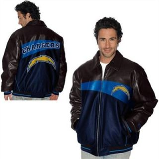 G III San Diego Chargers Faux Leather Jacket