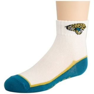 Jacksonville Jaguars Preschool White Teal Quarter Socks