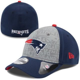Mens New Era Navy Blue New England Patriots 2014 NFL Draft 39THIRTY Flex Hat