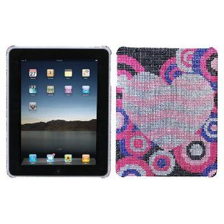 Hard Plastic Snap on Cover Fits Apple iPad Bubble Hearts Full Diamond/Rhinestone (Does not fit iPad 2 or iPad 3 or iPad 4 or The new iPad) Cell Phones & Accessories