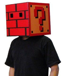 Super Mario Bros Question Mark Brick Box Costume Box Head Toys & Games