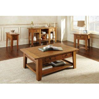 Shop Steve Silver Liberty Chairside End Table   Oak at the  Furniture Store