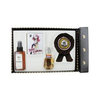JUICY CRITTOURE by Juicy Couture FOR DOGS EAU DE PARFUM SPRAY 1 OZ & SOFT SPOT COAT CONDITIONING MIST 5 OZ & PAWLETTES CLEANSING TOWELETTES 6 PACK & SOFT SQUEAKY CHEW TOY (Package Of 5)  Eau De Toilettes  Beauty