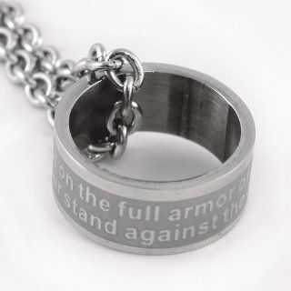 Armor Of God Ring Necklace Ephesians 611 on Stainless Steel Ring