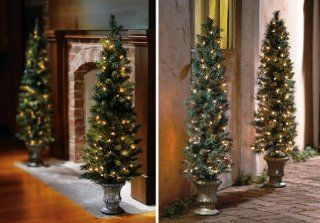 "Collections Etc   Pre Lit 42"" Christmas Tree Topiary   Artificial Topiaries"