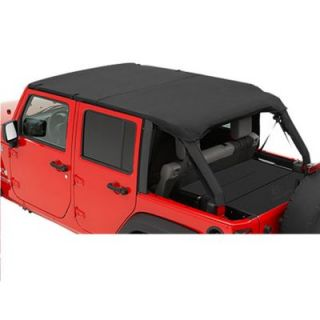 2007 2013 Jeep Wrangler (JK) Summer Top   Bestop, Direct fit, Dual layer poly cotton, Black diamond