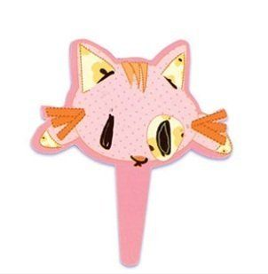 Pink CAT Kitty (12) Plastic Baby Shower Party Cupcake Cake Decors Pics Picks Toys & Games