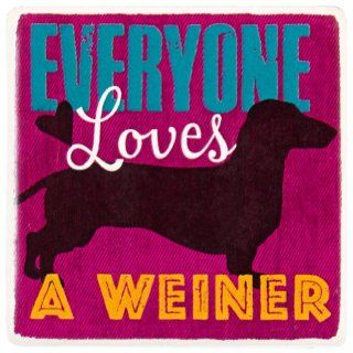 Highland Graphics   Dog Everyone Loves A Weiner Ceramic Refrigerator Magnet Kitchen & Dining