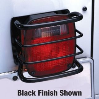 2007 2011 Jeep Wrangler (JK) Tail Light Guard   Rampage, Includes installation instructions and mounting hardware., Powdercoated black, Steel