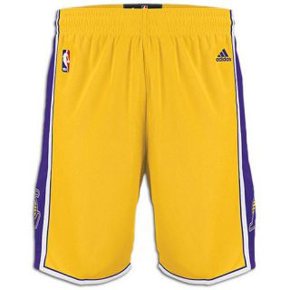 adidas NBA Swingman Shorts   Mens   Basketball   Clothing   Los Angeles Lakers   Gold