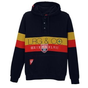 LRG Triumphant Pullover Hoodie   Mens   Casual   Clothing   Navy