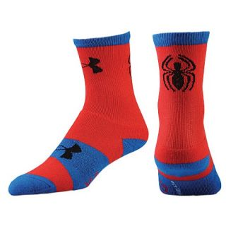 Under Armour Super Hero Crew Socks   Mens   Training   Accessories   Red/Blue