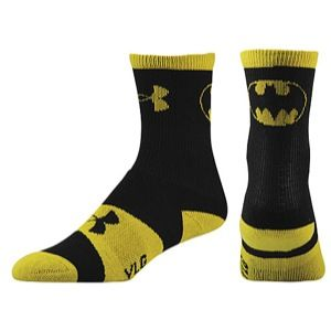 Under Armour Super Hero Crew Socks   Mens   Training   Accessories   Black/Yellow