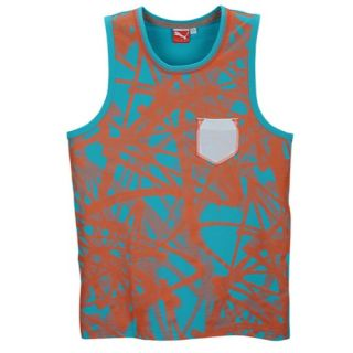 PUMA Dip Dye Tank   Mens   Casual   Clothing   Spectrum Blue/Medium Grey Heather/Beetroot
