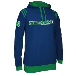 adidas College 3 Stripe Pullover Hoodie   Mens   Basketball   Clothing   Notre Dame Fighting Irish   Navy