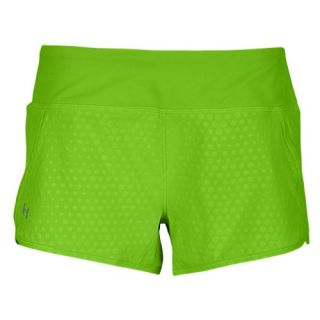 Under Armour Heatgear 3 Stretch Woven Shorts   Womens   Running   Clothing   Lead/Pinkadelic