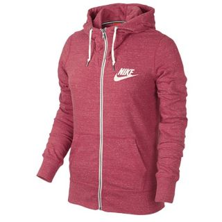 Nike Gym Vintage Full Zip Hoodie   Womens   Casual   Clothing   Geranium/Sail