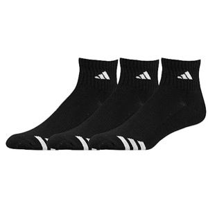 adidas 3 Stripe 3 Pack Quarter Socks   Mens   Training   Accessories   Black/White