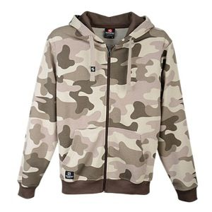 Southpole Camo Printed Fleece Full Zip Hoodie   Mens   Casual   Clothing   Khaki Brown