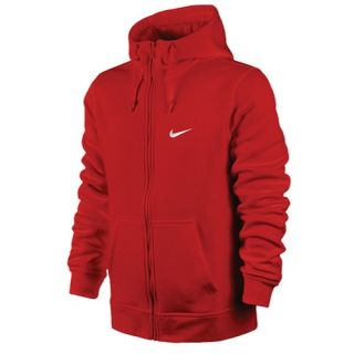 Nike Club Swoosh Full Zip Hoodie   Mens   Casual   Clothing   Sport Red/White