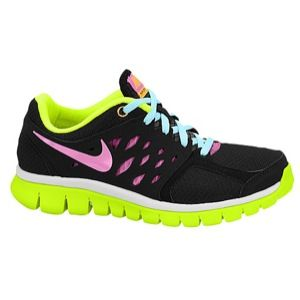Nike Flex Run 2013   Girls Grade School   Running   Shoes   Black/Glacier Ice/Volt/Red Violet