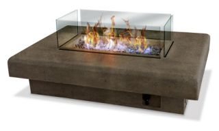 Palazetto 60 in. Gas Fire Table   Antique Bronze   Fire Pits