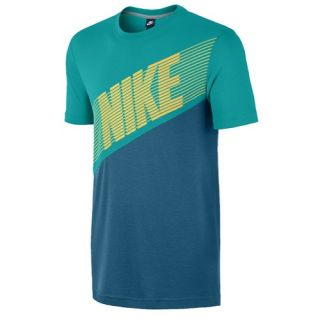 Nike Blindside Color Block T Shirt   Mens   Casual   Clothing   Turbo Green/New Slate/Atomic Mango