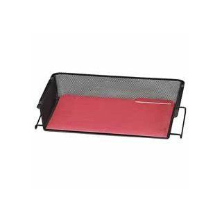 "Rolodex Corporation Products   Mesh Tray, Side Load, Legal, 17 1/8""x10 5/8""x3"", Black   Sold as 1 EA   Made of durable rolled mesh steel, the unique criss crossed design of stacking tray gives your work space a curb appeal all its own. This"